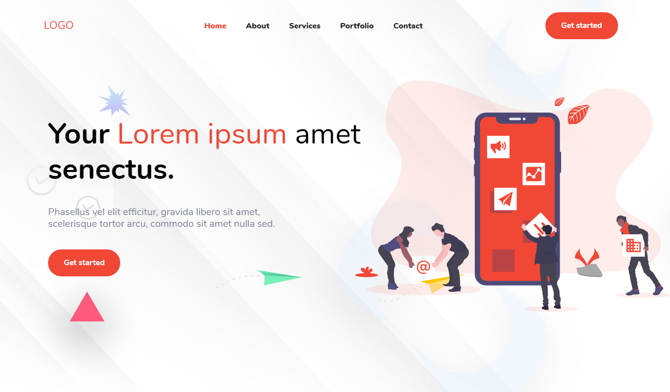 Agency Theme Landing Page Template