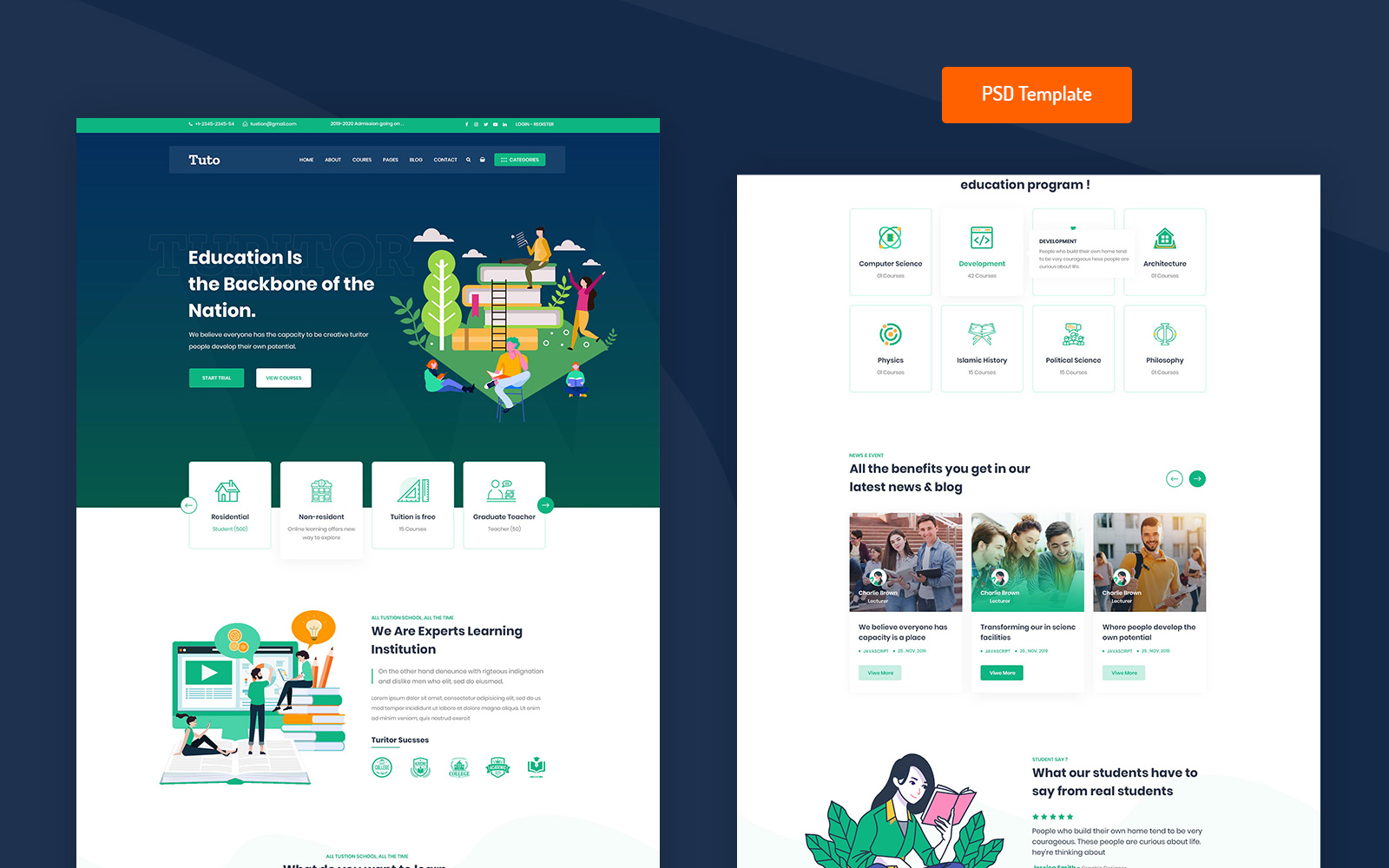 Tuto - Education PSD PSD Template