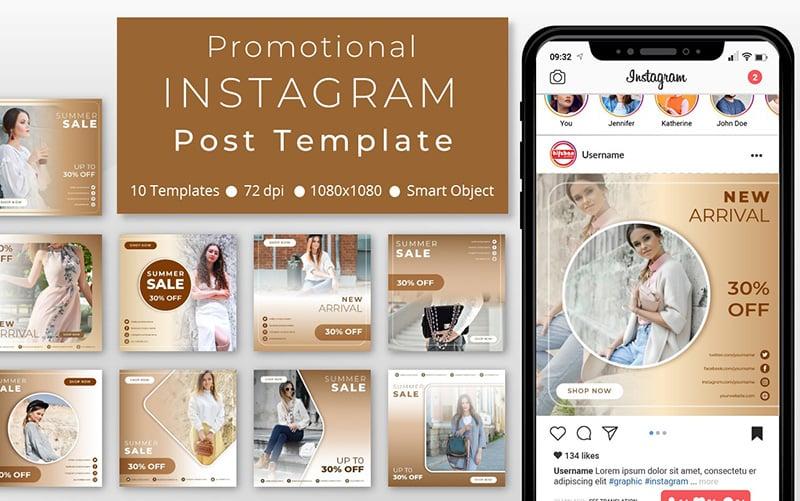 10 Unique Fashion Promotional - Instagram Post Social Media