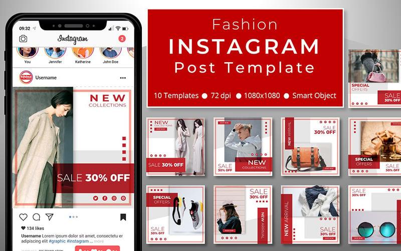 10 Unique Fashion Promotional - Instagram Post Template Social Media