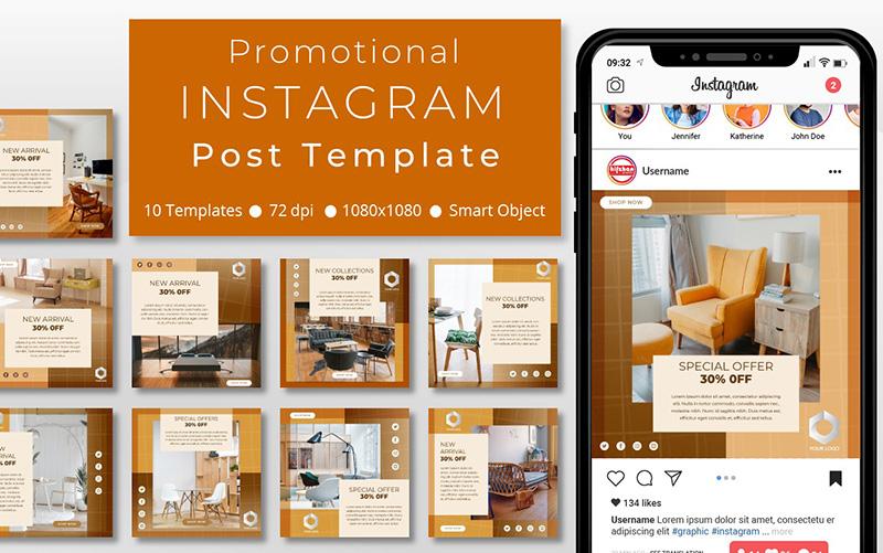 10 Unique Furniture Promotional - Instagram Post Template Social Media