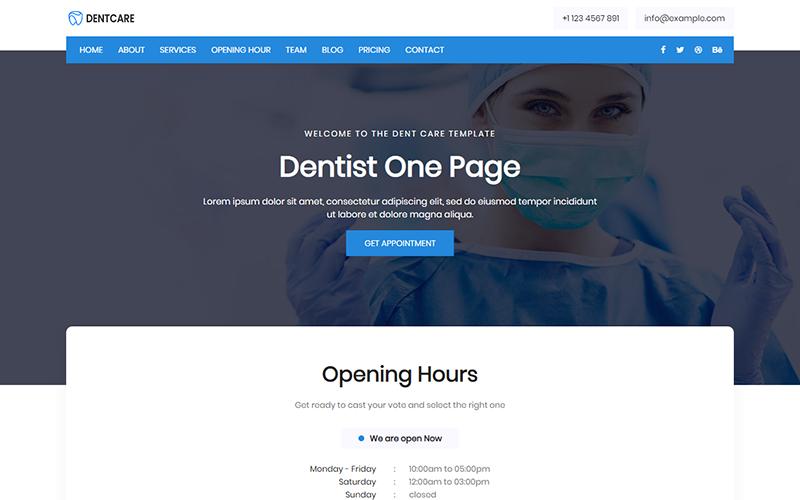 """""""Dent Care - Dentist"""" - адаптивний Шаблон цільової сторінки №102086"""