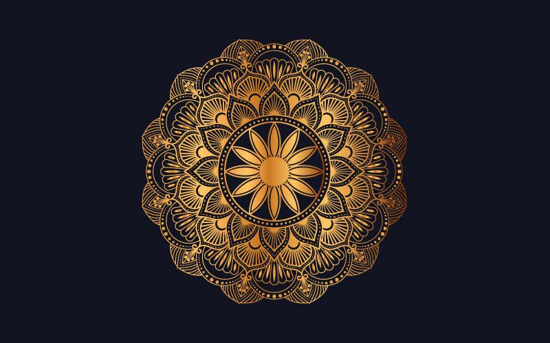 "Ilustración ""Luxury mandala background with golden arabesque pattern"" #102003"