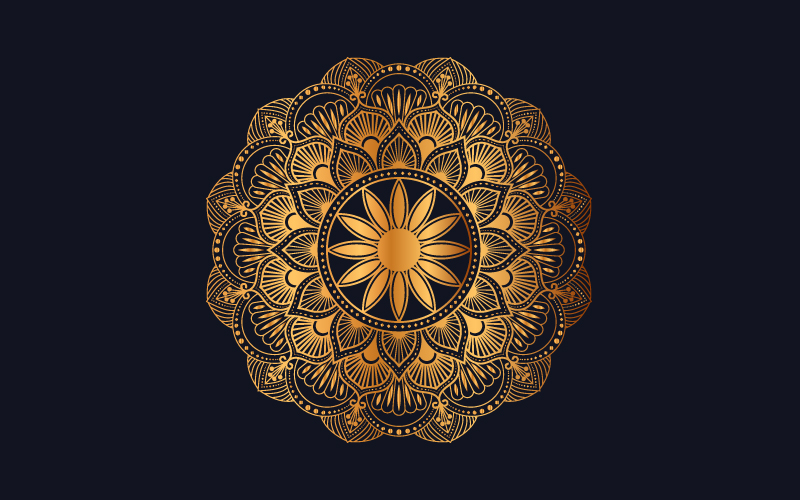 Ilustracja Luxury mandala background with golden arabesque pattern #102003
