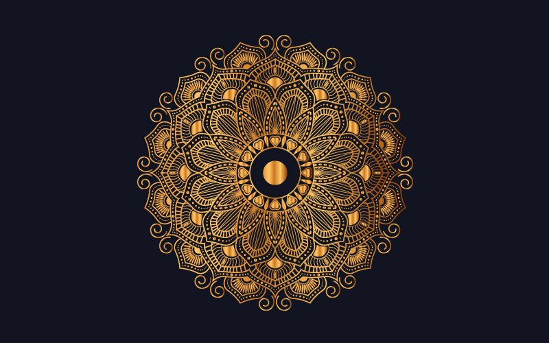 Ilustracja Luxury mandala background with golden arabesque pattern #102007