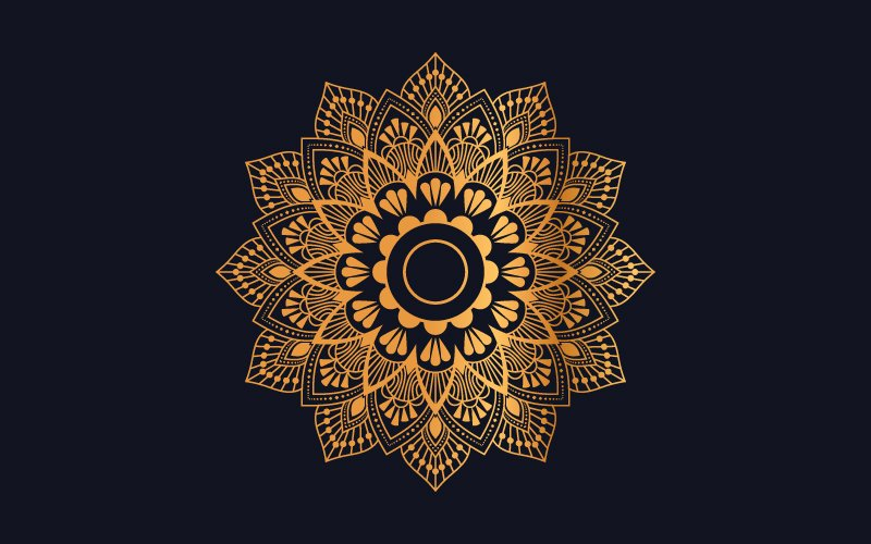 Ilustracja Luxury mandala background with golden arabesque pattern #102091