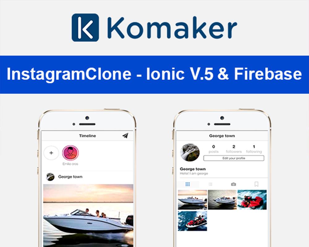 InstagramClone - Ionic V.5 & Firebase Alkalmazás sablon 102040