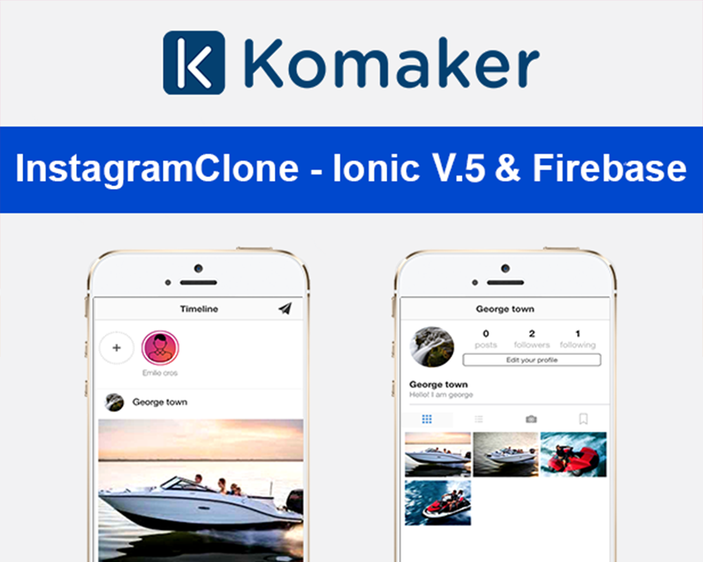 InstagramClone - Ionic V.5 & Firebase App Template #102040
