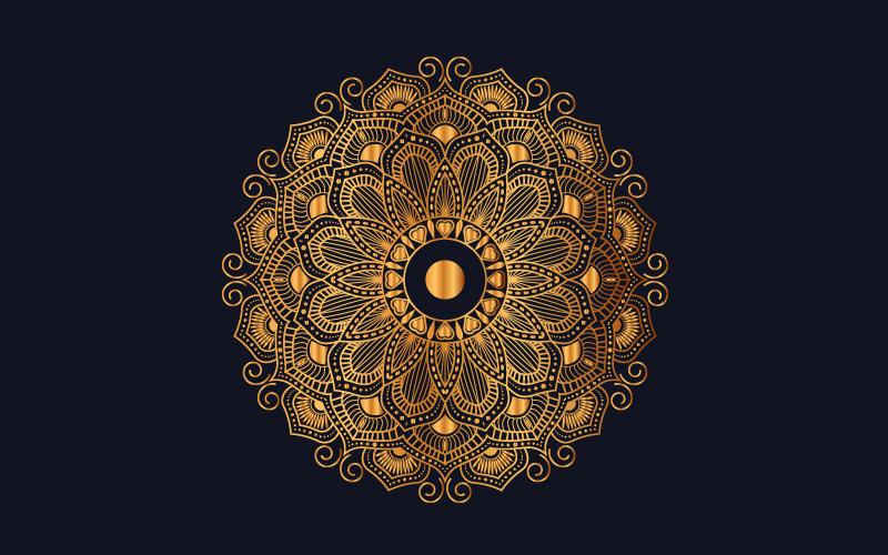 Luxury mandala background with golden arabesque pattern Ilustração №102007