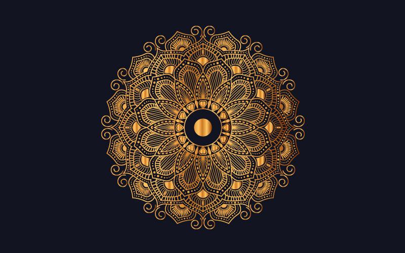 """Luxury mandala background with golden arabesque pattern"" - Ілюстрація №102007"