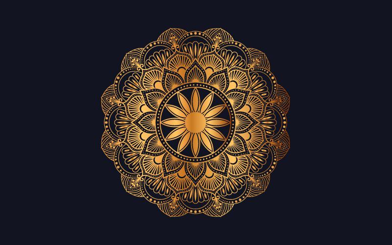 Luxury mandala background with golden arabesque pattern №102003