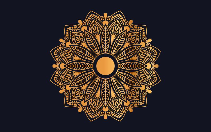 Luxury mandala background with golden arabesque pattern №102012