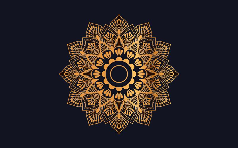 Luxury mandala background with golden arabesque pattern №102091
