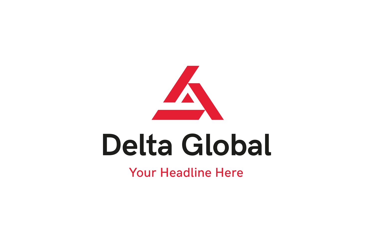 Delta Global Logo Template