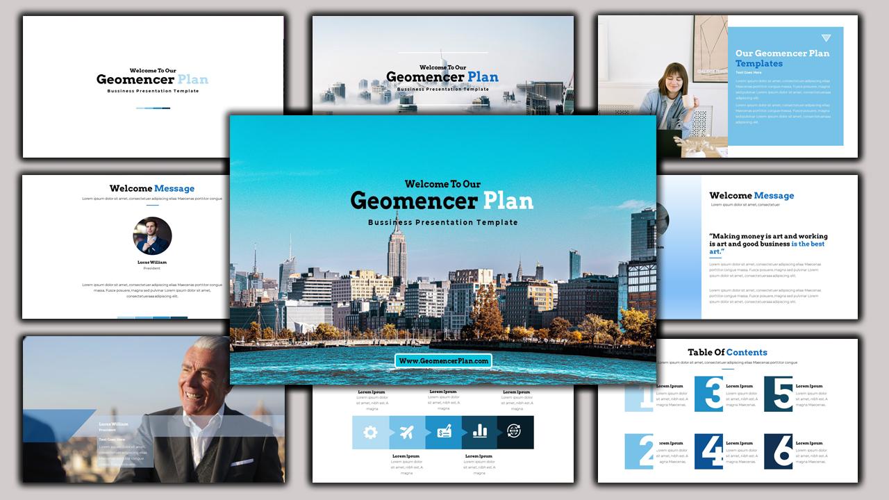 Geomancer - Business Plan PowerPoint Template