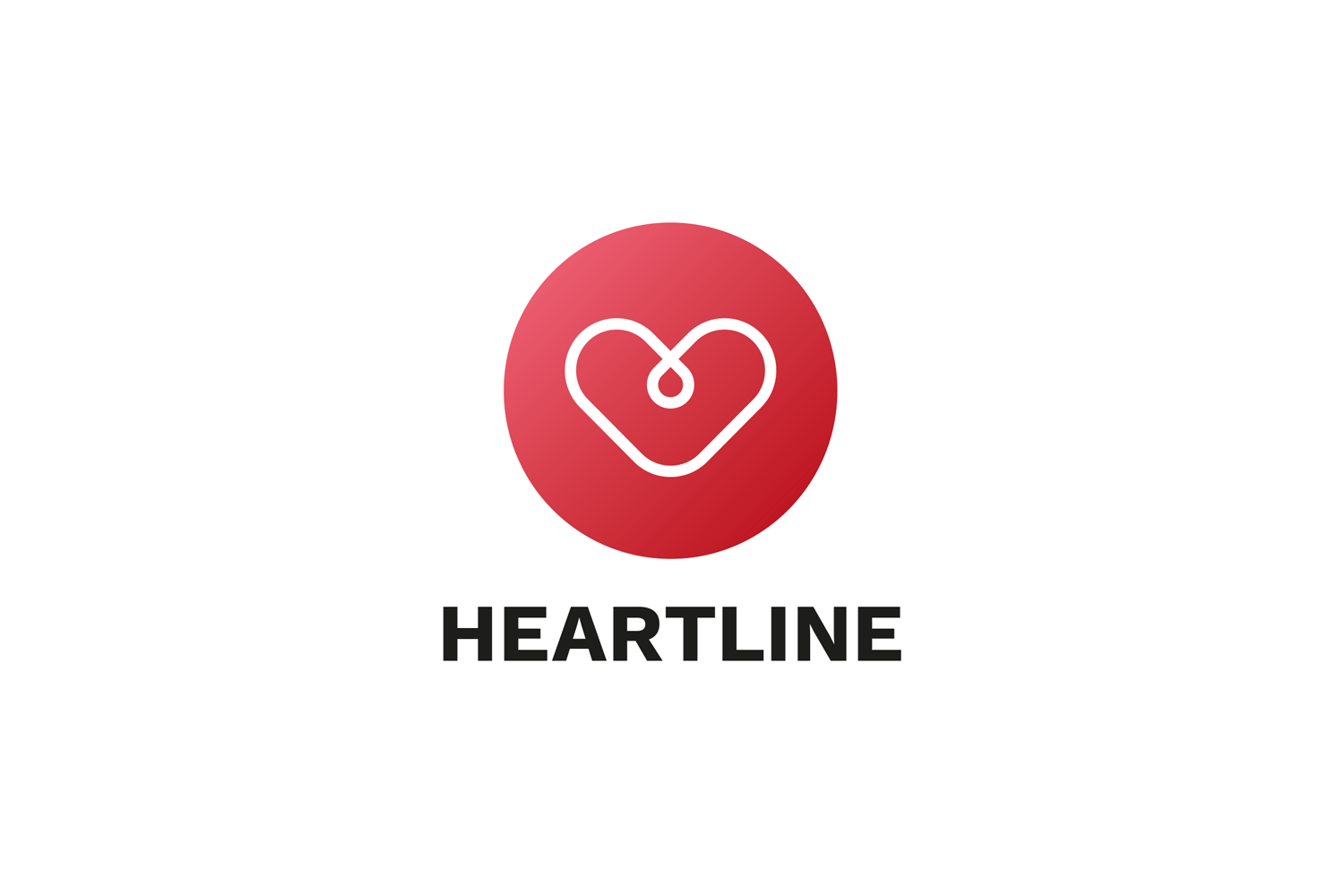 Heartline Logo Template