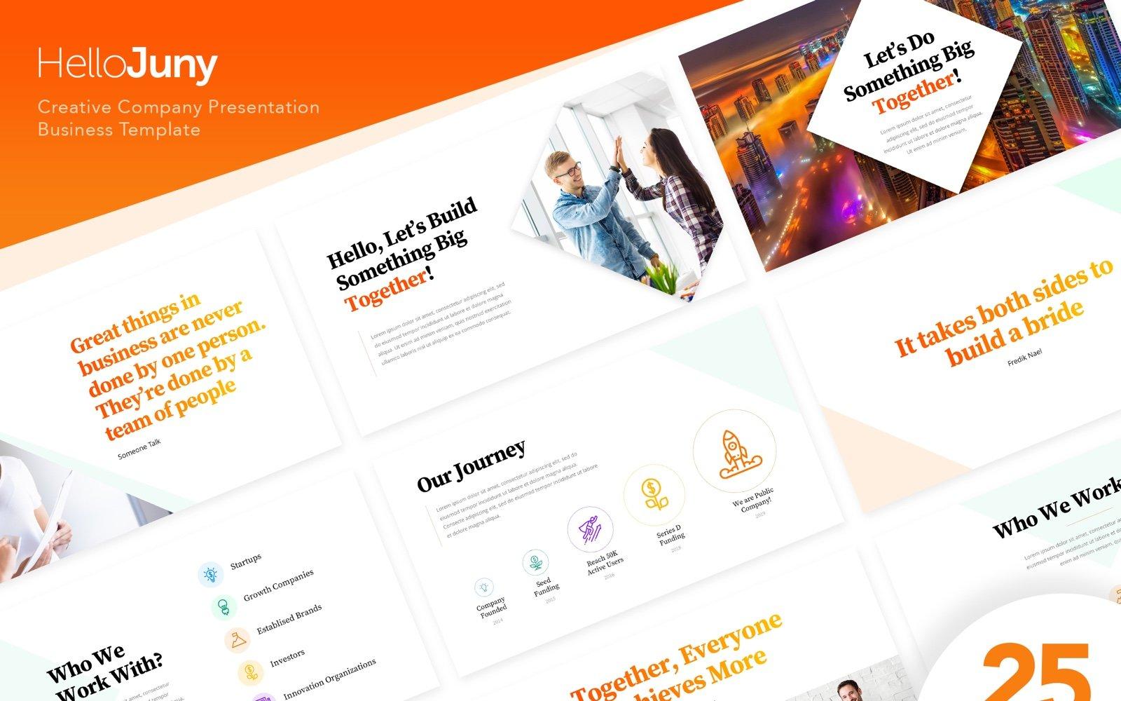 HelloJuny - Creative Company Business PowerPoint Template
