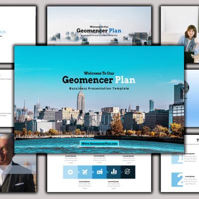 "Luxusní PowerPoint šablona ""Geomancer - Creative Business Plan"" #102145"