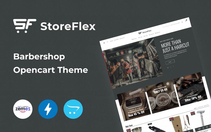 """Modello OpenCart Responsive #102149 """"Storeflex Barbershop Online Template"""""""