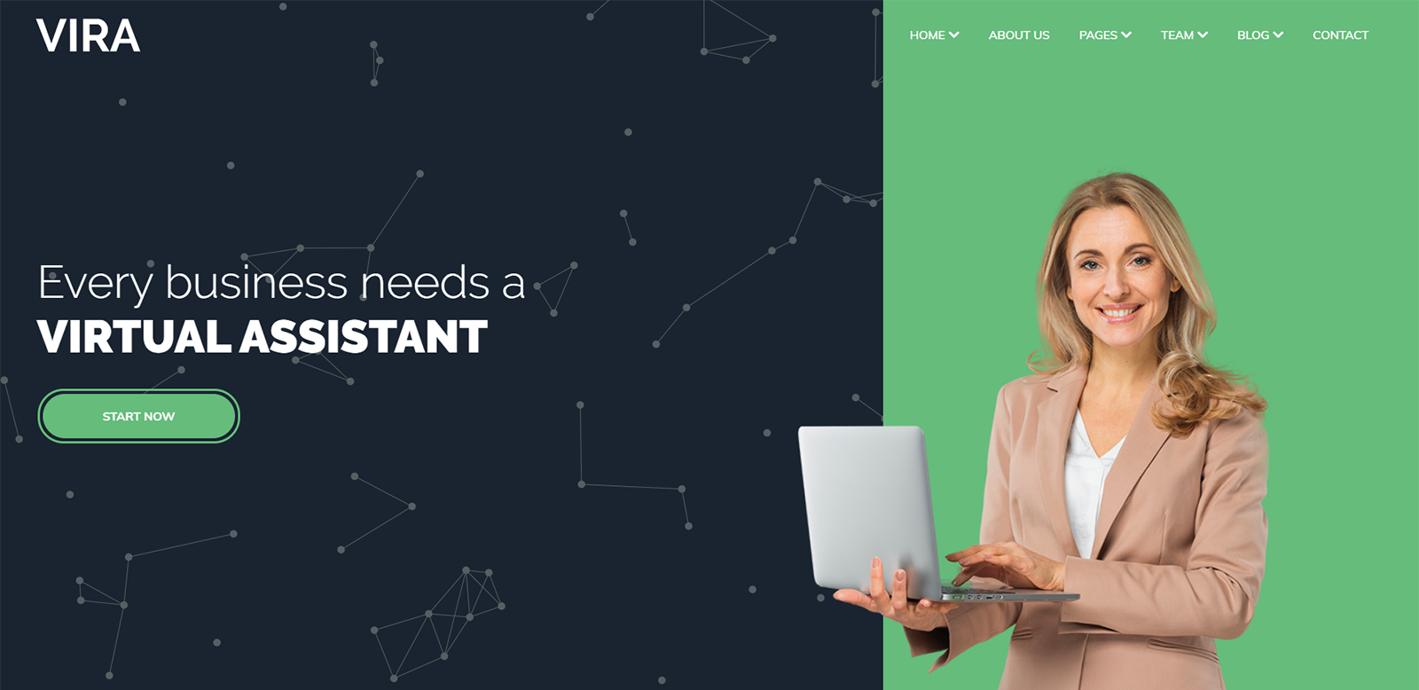 Responsywny motyw WordPress VIRA - Virtual Assistant #102146