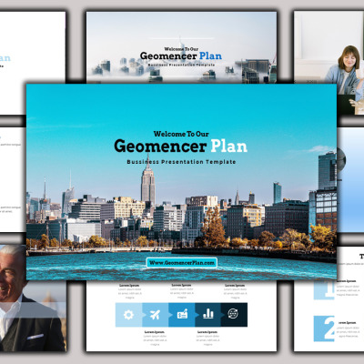 "Template PowerPoint #102145 ""Geomancer - Creative Business Plan"" #102145"