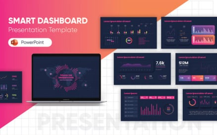 Smart Dashboard PowerPoint template PowerPoint Template