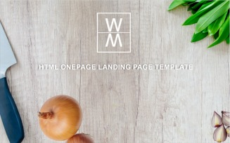 WAME - Multipurpose Onepage Html Landing Page Template