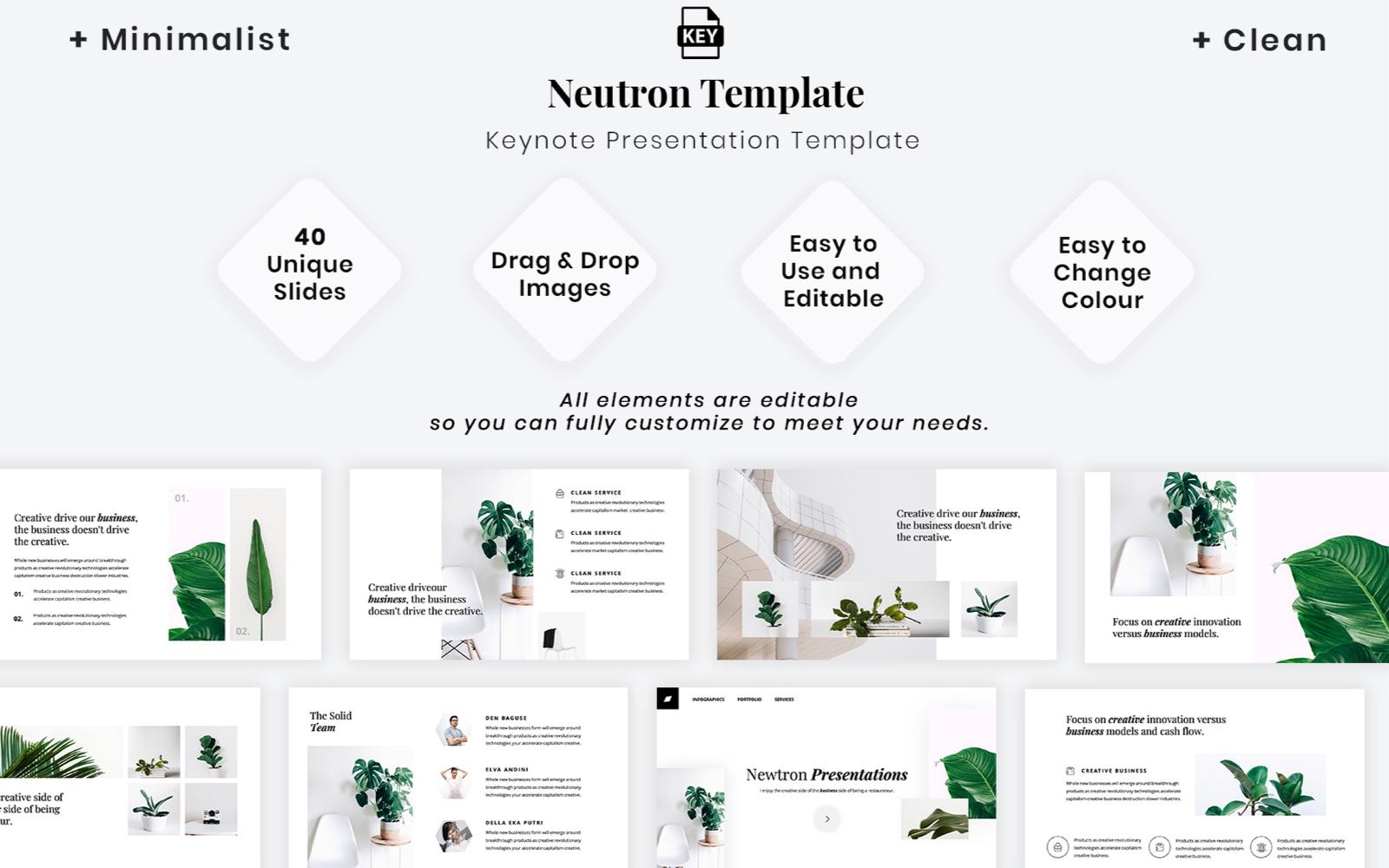 """Plantilla Keynote """"Minimalist - Clean Presentation"""" #102294"""