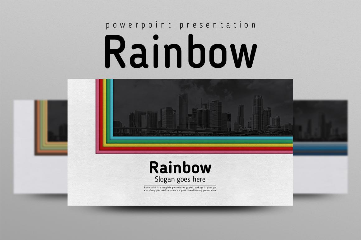 """Plantilla PowerPoint """"Rainbow"""" #102235"""