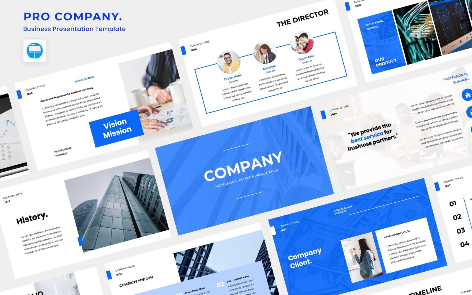 PRO COMPANY - Business Keynote Template