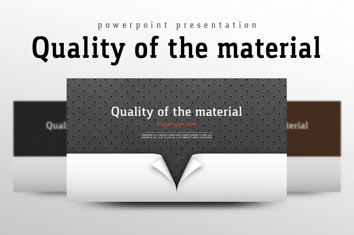 Quality of the Material Template PowerPoint №102237