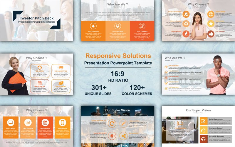 Responsive Solutions Template PowerPoint №102240