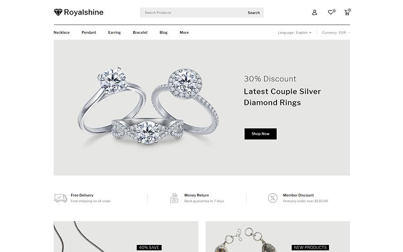 Reszponzív Royalshine - Jewellery Store PrestaShop sablon 102224