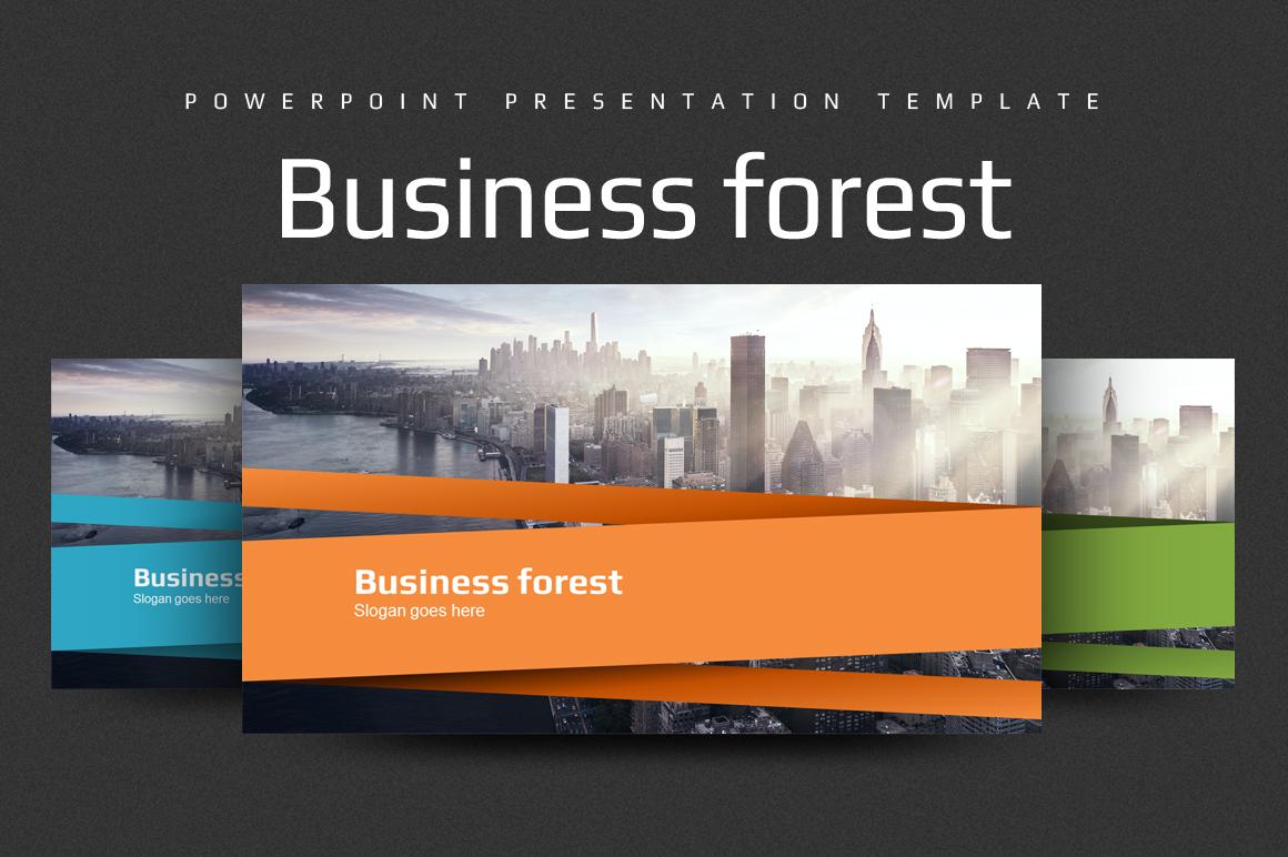 Szablon PowerPoint Business Forest #102231