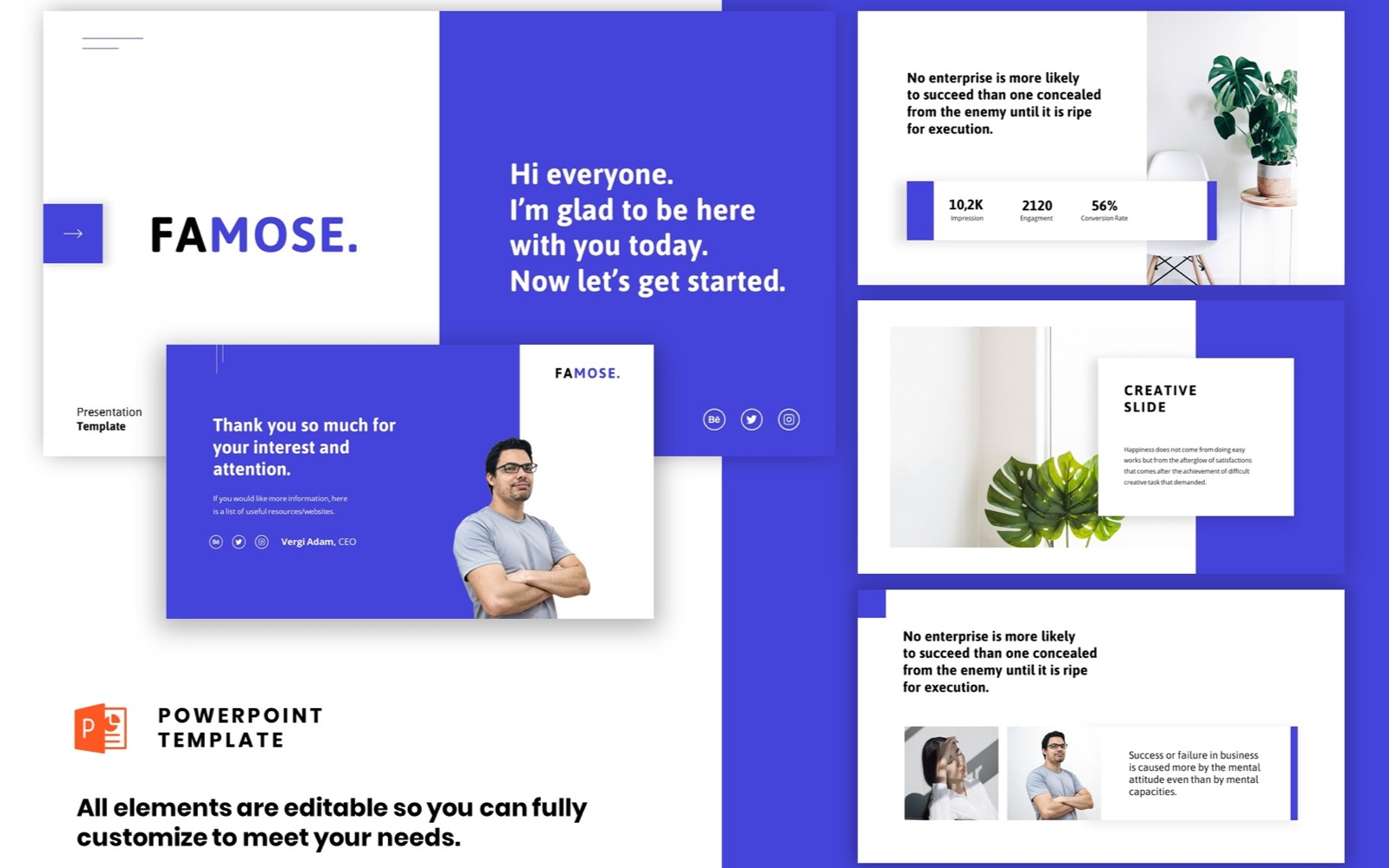 Szablon PowerPoint Corporate Startup - Clean Powerpoint #102242
