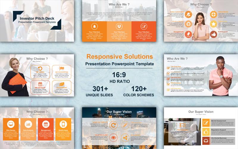 Szablon PowerPoint Responsive Solutions #102240