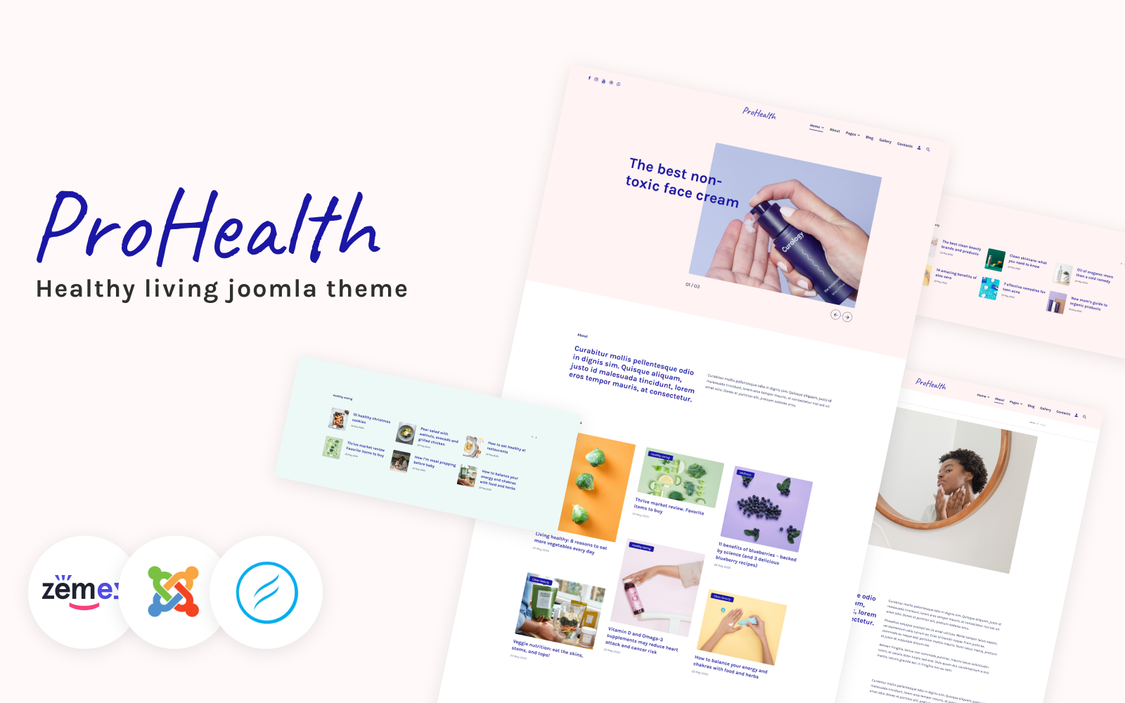 "Template Joomla Responsive #102220 ""ProHealth - Life Coach Multipage Creative"""