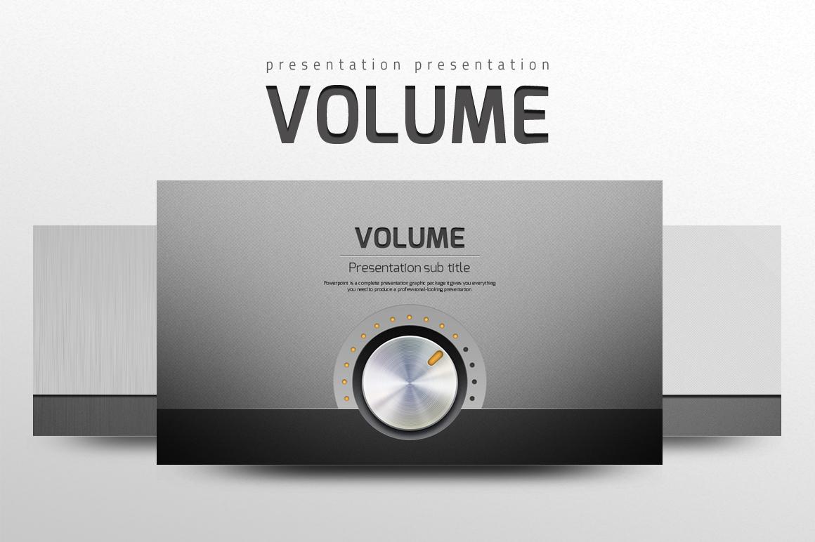 Volume Template PowerPoint №102239