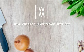 WAME - Multipurpose Onepage Html Landing Page Template