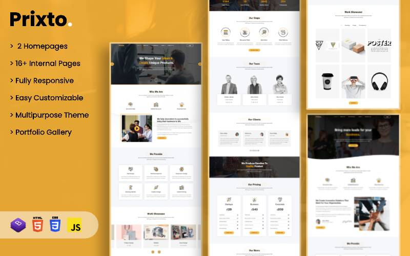 "Website Vorlage namens ""Prixto - Multipurpose Business Theme"" #102215"