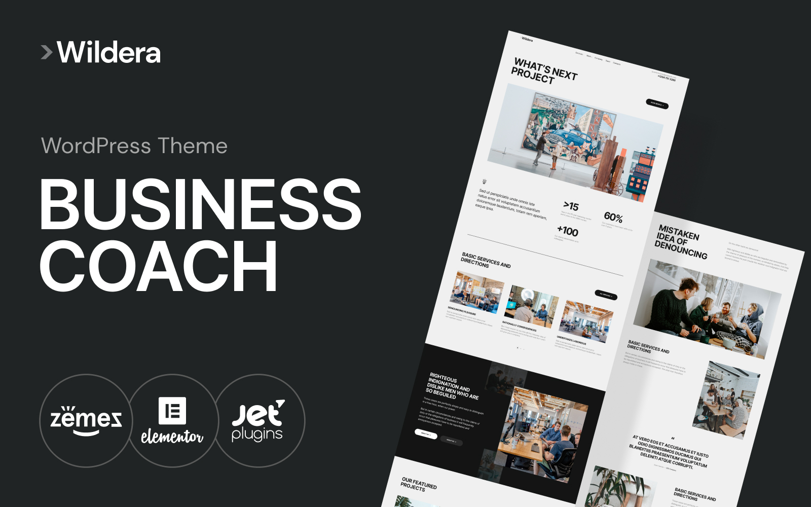 Wildera– clean business WordPress Theme