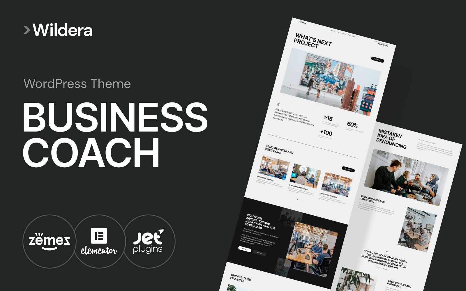 "WordPress Theme namens ""Wildera - clean business"" #102219 - Screenshot"