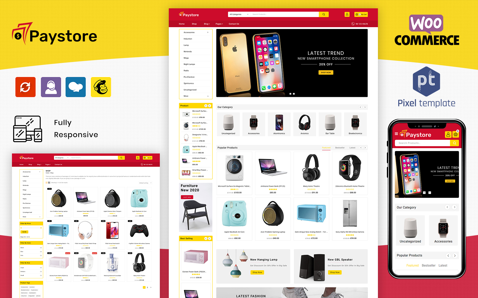 Bootstrap motyw WooCommerce PayStore - Multipurpose #102353