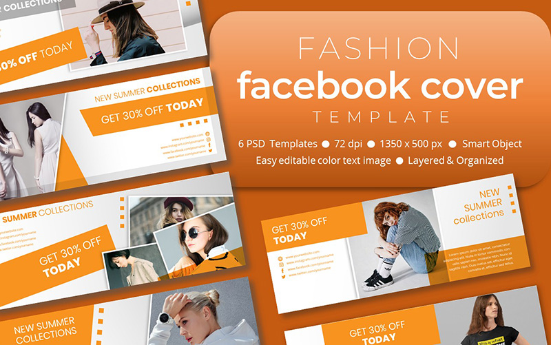 Fashion Facebook Cover Template Social Media