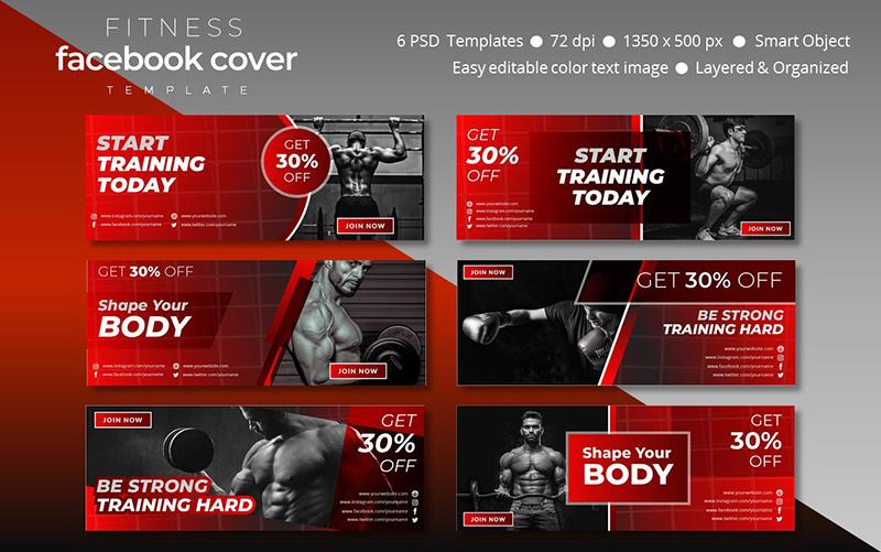 Fitness Facebook Cover Template Social Media