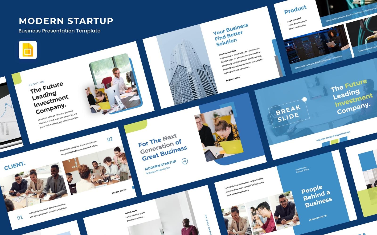Google Slides MODERN STARTUP - Presentation #102302
