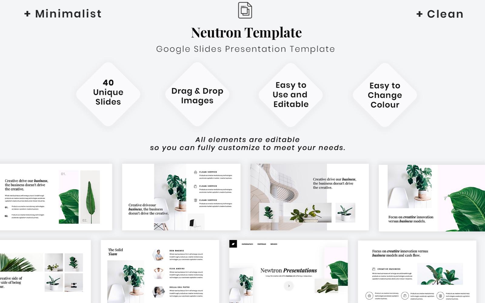 """Minimalist - Clean Presentation Template"" google Slides  #102300"