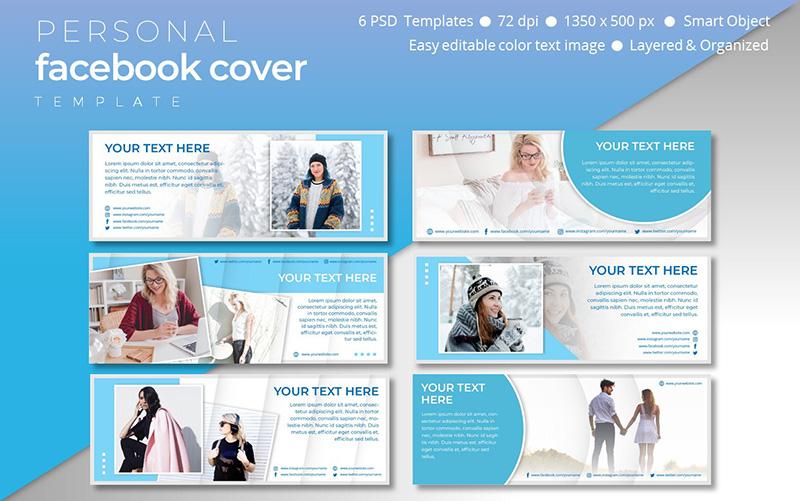 Personal Facebook Cover Template Social Media