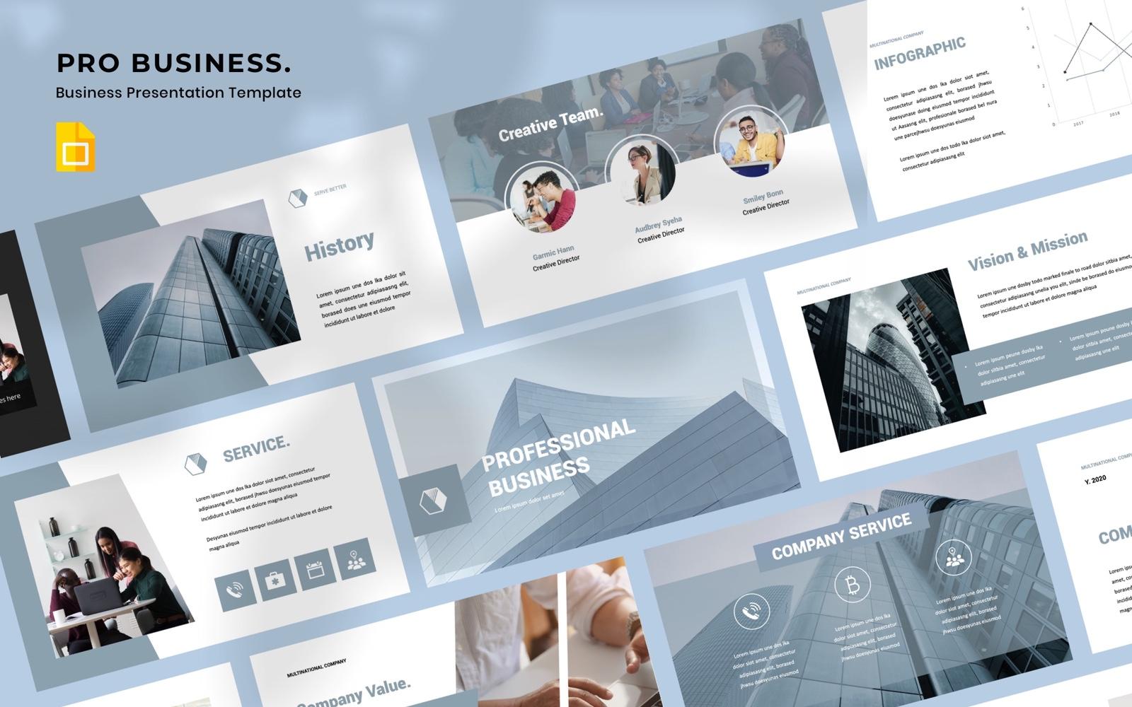 """PRO BUSINESS  - Business"" google Slides  #102303"