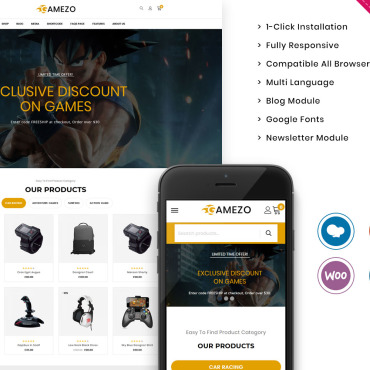 Купить  пофессиональные WooCommerce шаблоны. Купить шаблон #102406 и создать сайт.